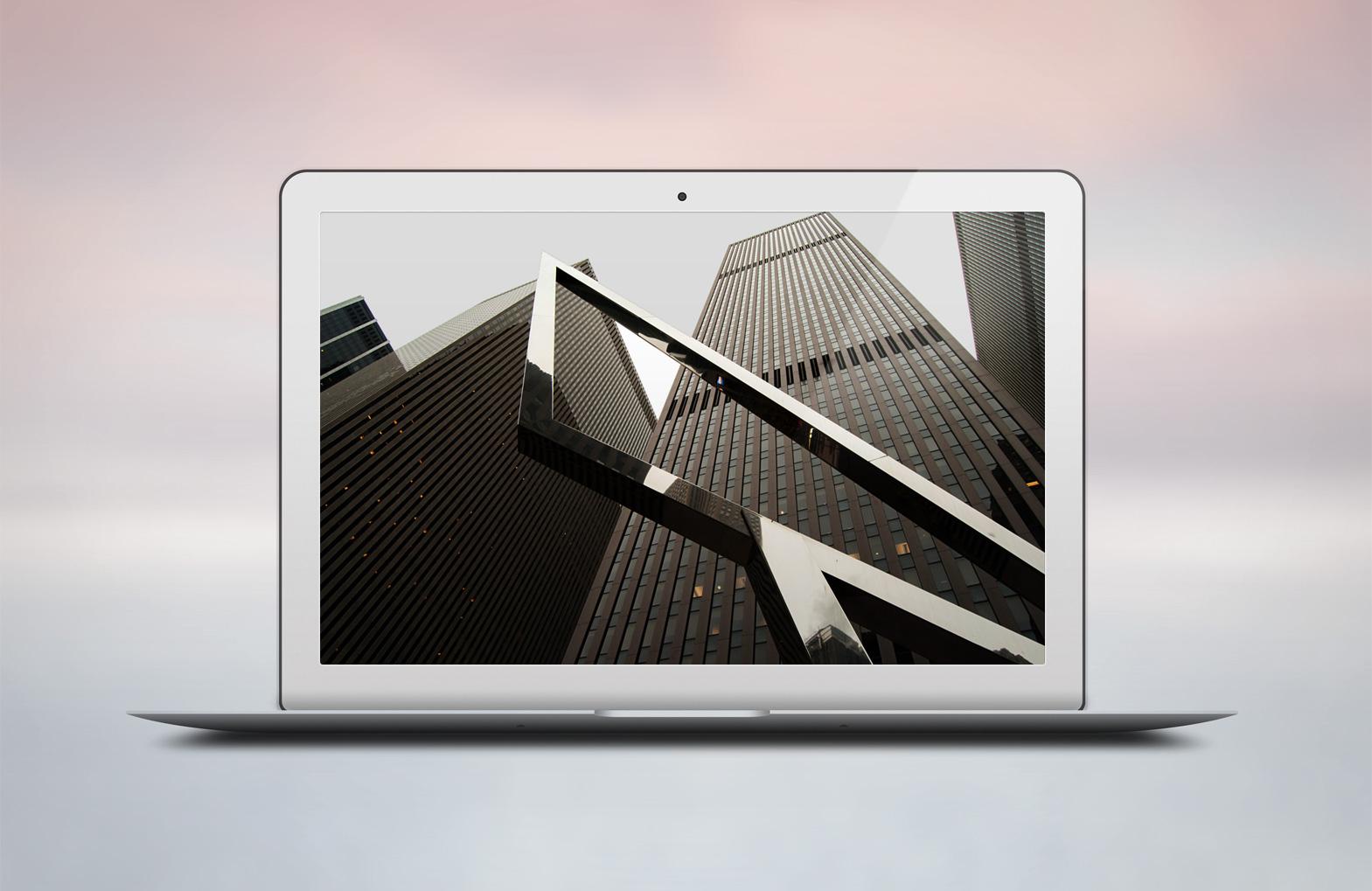 Modern webdesign, prototype, macbook air