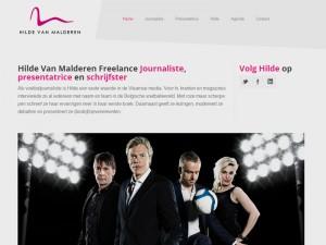 hilde van malderen, corporate identity, logo design, website