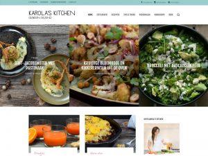 karola's kitchen healthy food homepage design